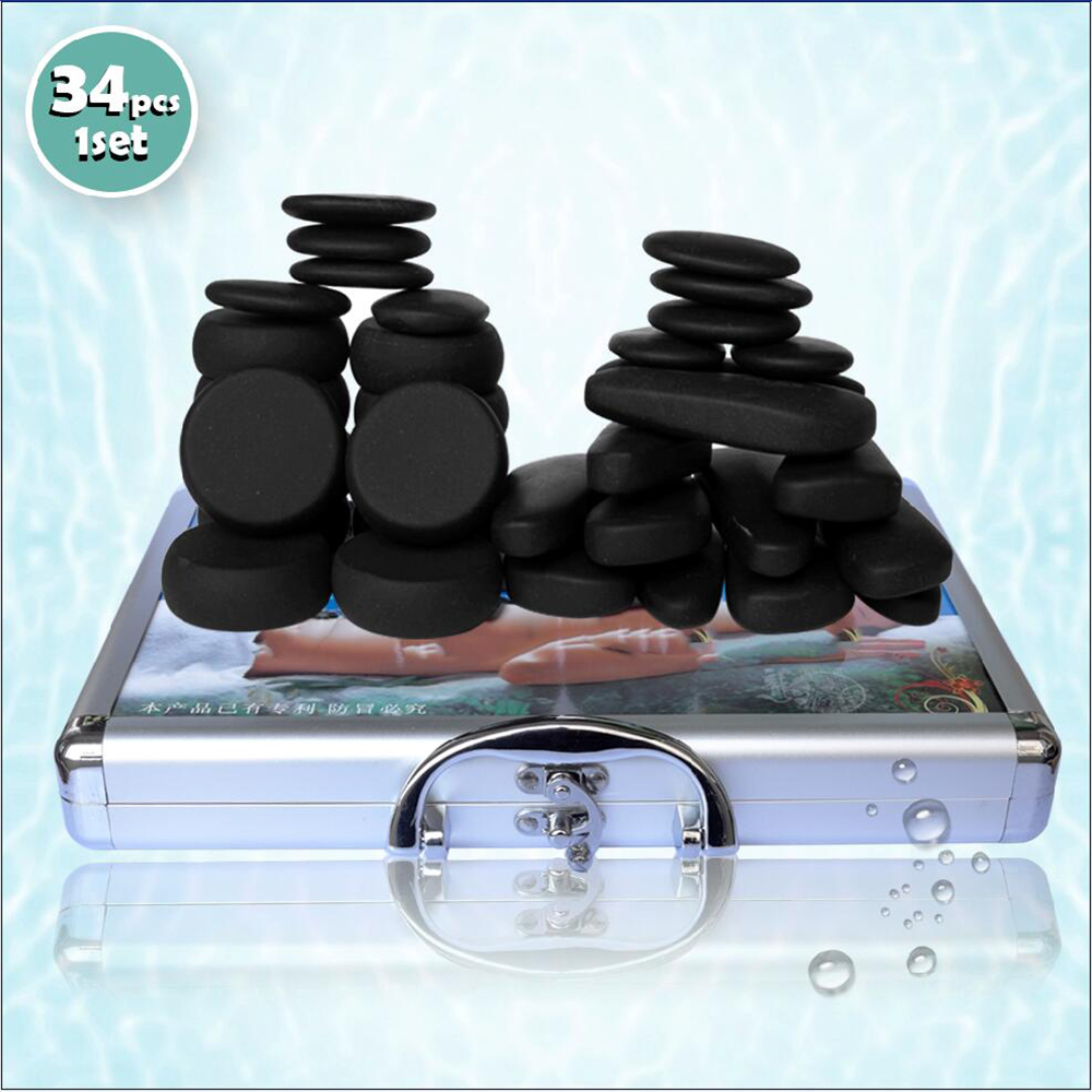 Tontin Body Massage Hot Stone Tool Stone 220V 110V Heating Box Relieve Stress Back Pain Health