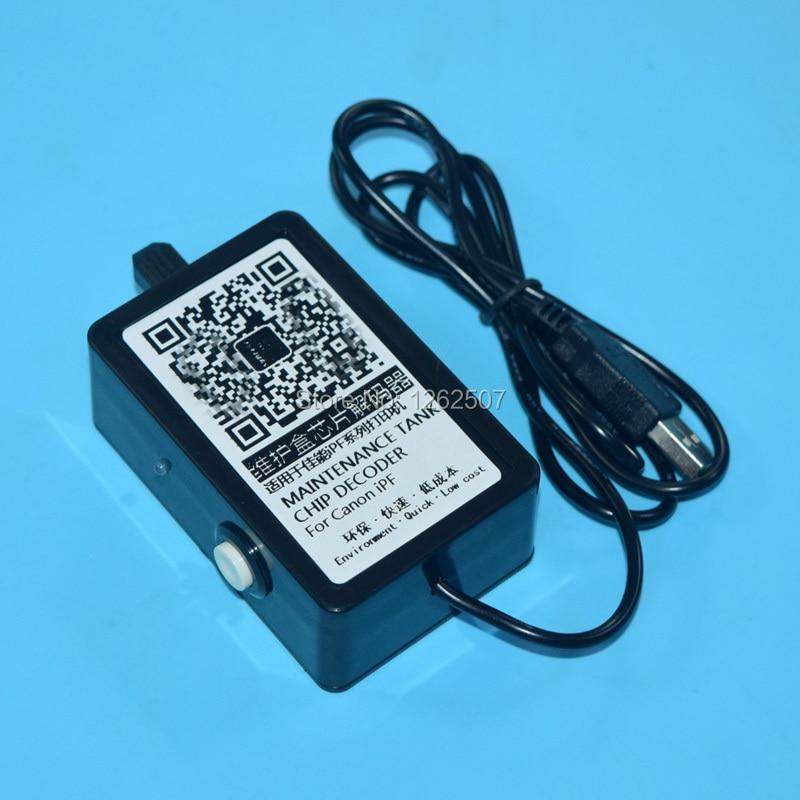 MC 05 07 08 09 10 16 Maintenance Cartridge Chip Resetter For Canon iPF5000 5100 6100
