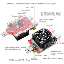 35w usb carga eletrônica ajustável corrente constante envelhecimento resistor bateria tensão capacidade tester qualcomm qc2.0/3.0 voltímetro