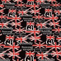 140x100 см Британский Стиль Юнион Джек черный ГБ хлопок Ткань для Великобритании праздник decoration-afck504