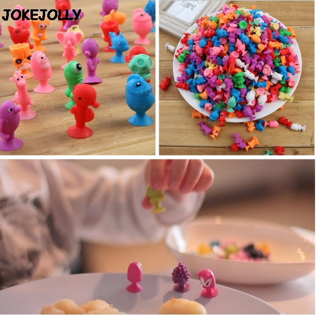 10 stücke Stikeezse Kinder Kind Cartoon Ozean Tier Action-figuren Spielzeug Mini Monster Sucker Saugnapf Kapsel Modelle Collector GYH