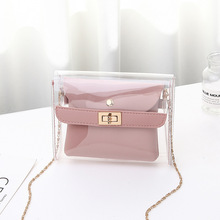 2019 New Fashion Transparent Shoulder Crossbody Bags PU+PVC