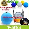 WALFOS food grade grande bola 6 cm rodada de Uísque uísque gelo silicone molde bola de gelo grande esfera molde de gelo fabricante de bola de gelo do uísque