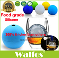 WALFOS food grade large whisky ice ball 6cm round Whisky silicone ice ball mold big sphere ice mould whiskey ice ball maker