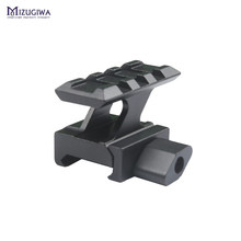 Quick Release Airsoft Rifle Scope Riser 20mm Rail Scope Mount Adapter Weaver picatinny Rail Scope Mount Gun Accessories caza(China)