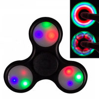 10 Pcs LED Beautiful Colorful Racing Lights Fidget Spinner Triangle Finger Tip Relieve Stress Powerball Hand