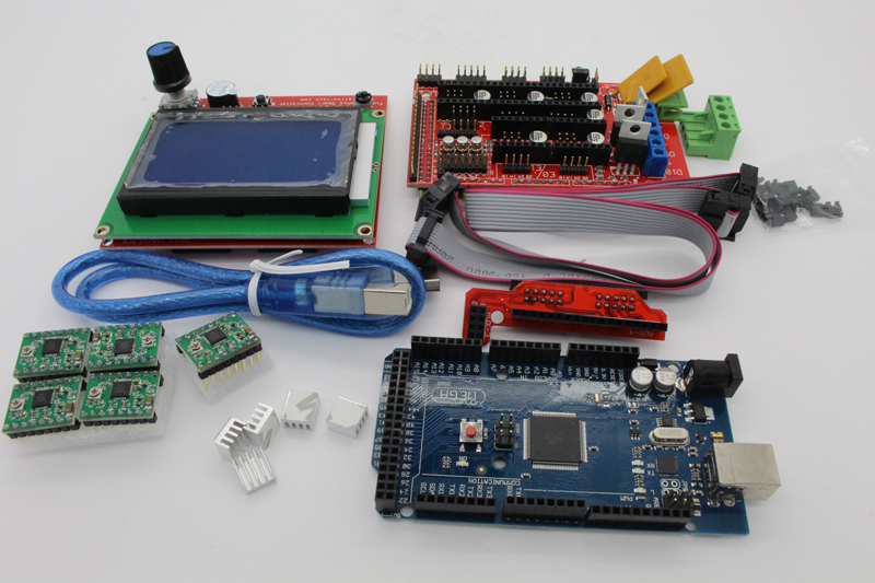 ФОТО 3D printer masterboard control panel kit  including 12864 and V1.4 and 2560 R3 and 49885