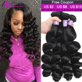 Brazilian Loose Wave Virgin Hair 4 Bundles Brazilian Virgin Hair 8A Unprocessed Brazilian Hair Weave Bundles 100% Human Hair
