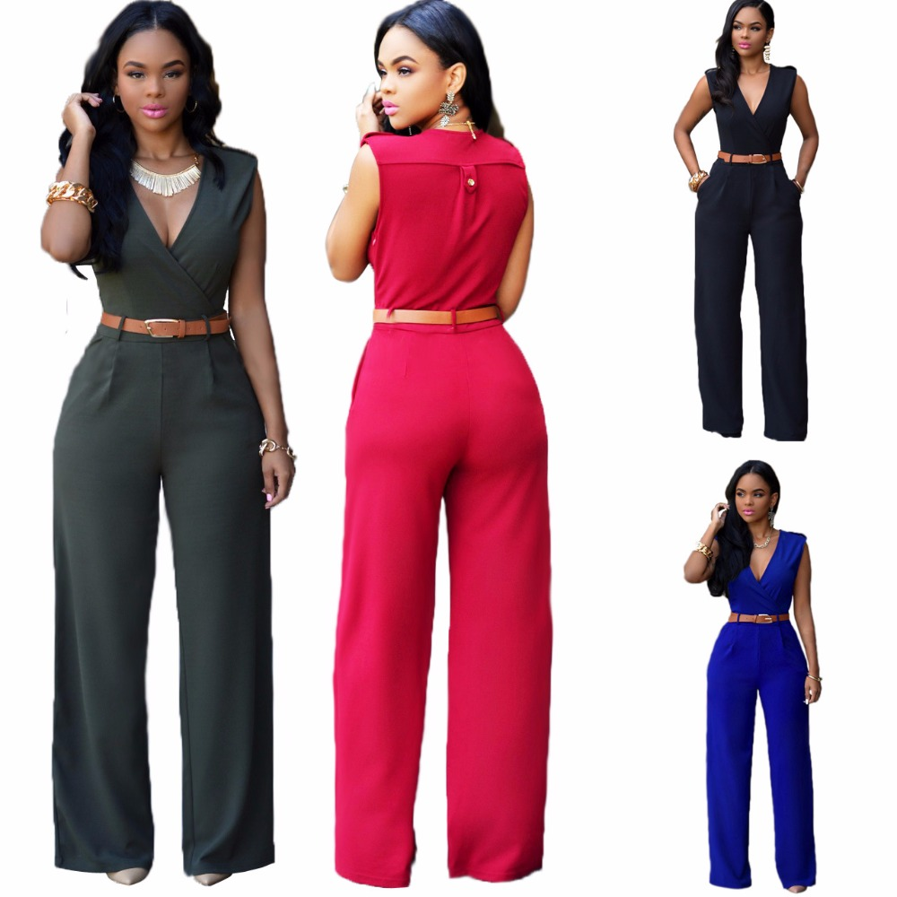 52b5d9848227 Women 2019 Fashion denim Halter Jumpsuit Backless Sexy bodysuit with ...