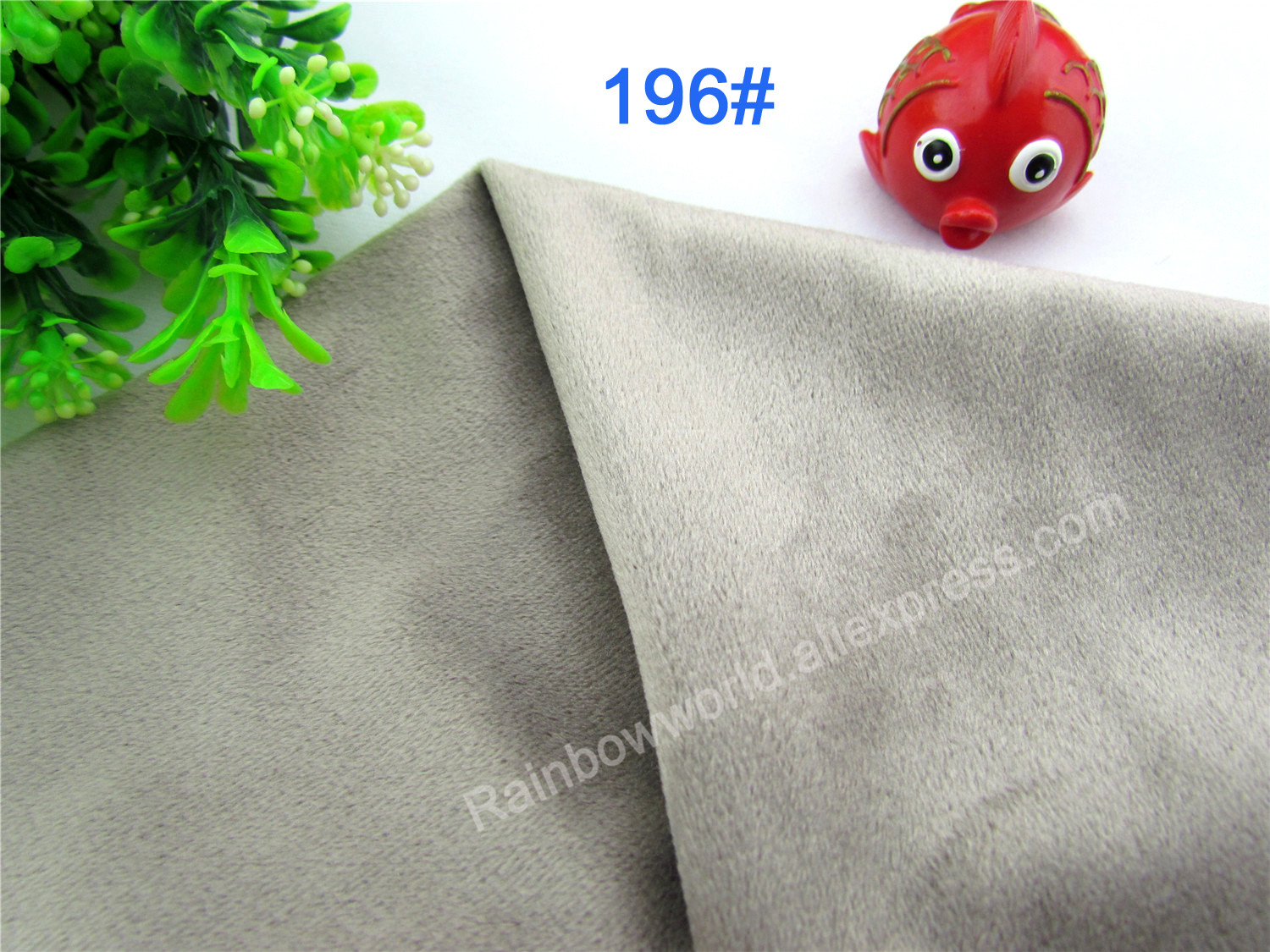 196# Gray Color Super Soft Short Hair 0.5-1.5mm Fleece Fabric Velvet Microfiber Velboa for DIY Patchwork Toy Sofa Pillow