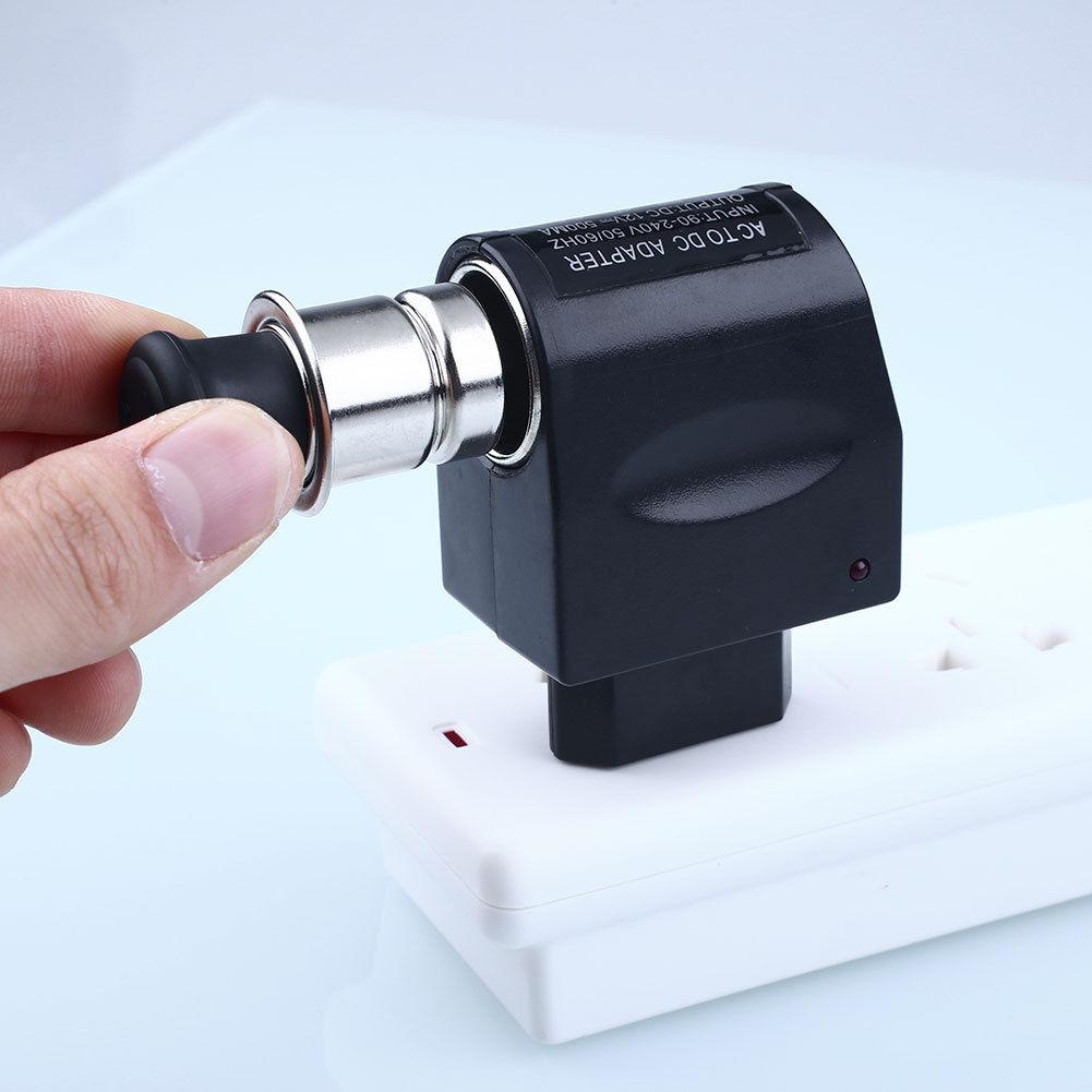 New 220V AC Plug To 12V DC Car Cigarette Lighter Converter Socket Adapter