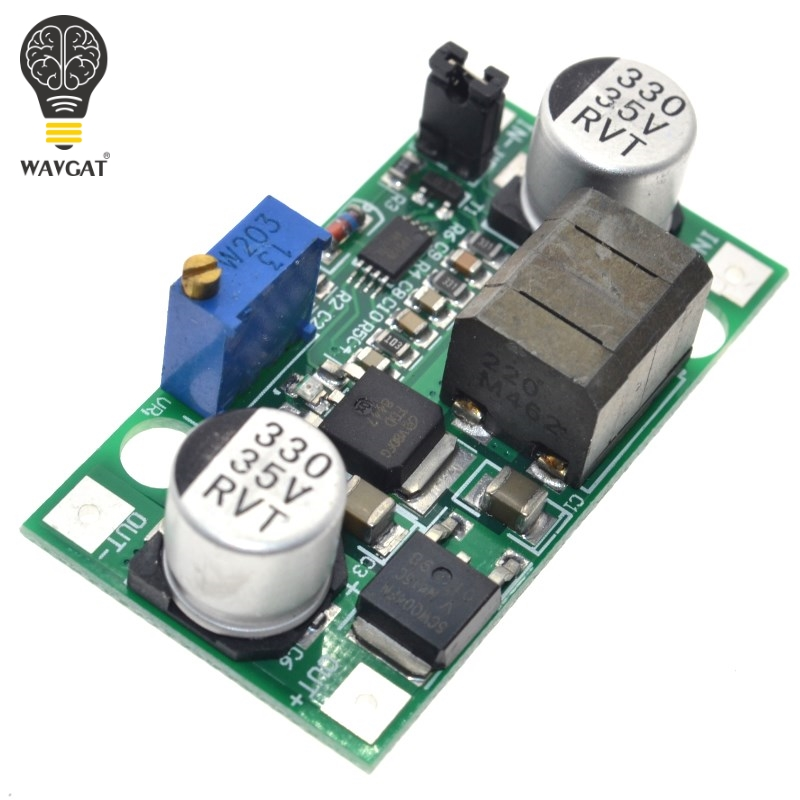 WAVGAT DC-DC Step Up Down Module Boost and Buck Voltage Converter 5-25V to 0.5V-25V 3A 30W 3.3V 5V 12V 18V 24V image