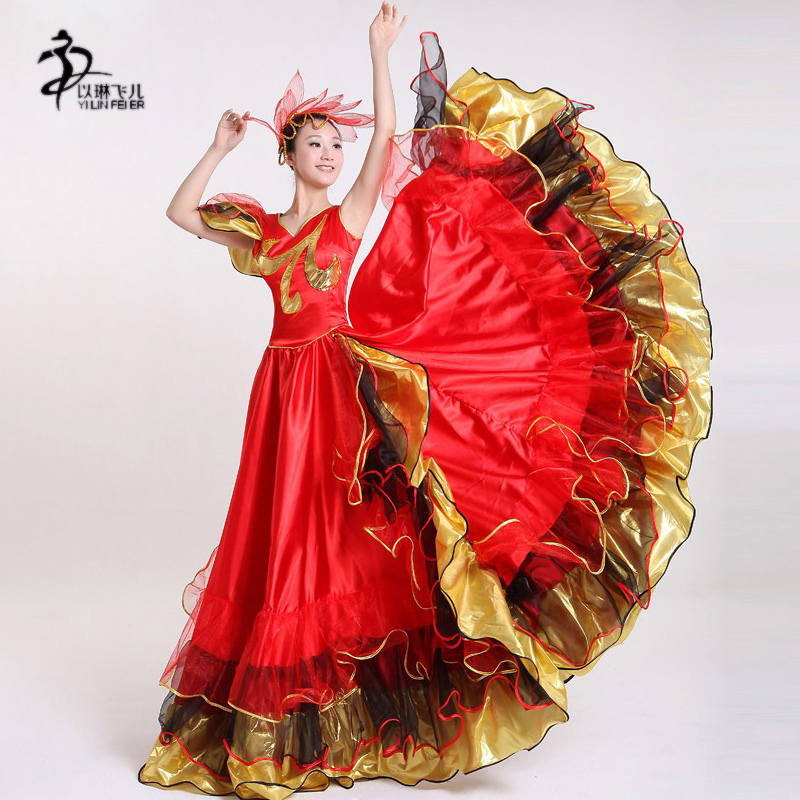 Flamenco Klänning Flamenco Kjol Dam Dam Flamenco Kostymer Spansk Klänning Kostym
