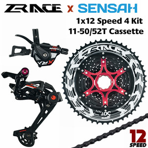 Image 1 - SENSAH XRX 12 Speed Shifter + Rear Derailleur + Cassette 52T + YBN 12S Chains Groupset ,Compatible for M9100 Eagle MTB Bicycle