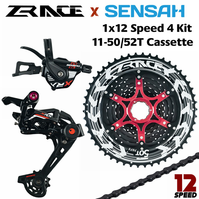 SENSAH XRX 12 Speed Shifter + Rear Derailleur + Cassette 52T + YBN 12S Chains Groupset ,Compatible for M9100 Eagle MTB Bicycle