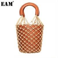 [EAM] 2018 New Summer Autumn 8 Style Fashion Tide Convenience Braided Rope Nets Grid Soft Women Wild Accessories LA500