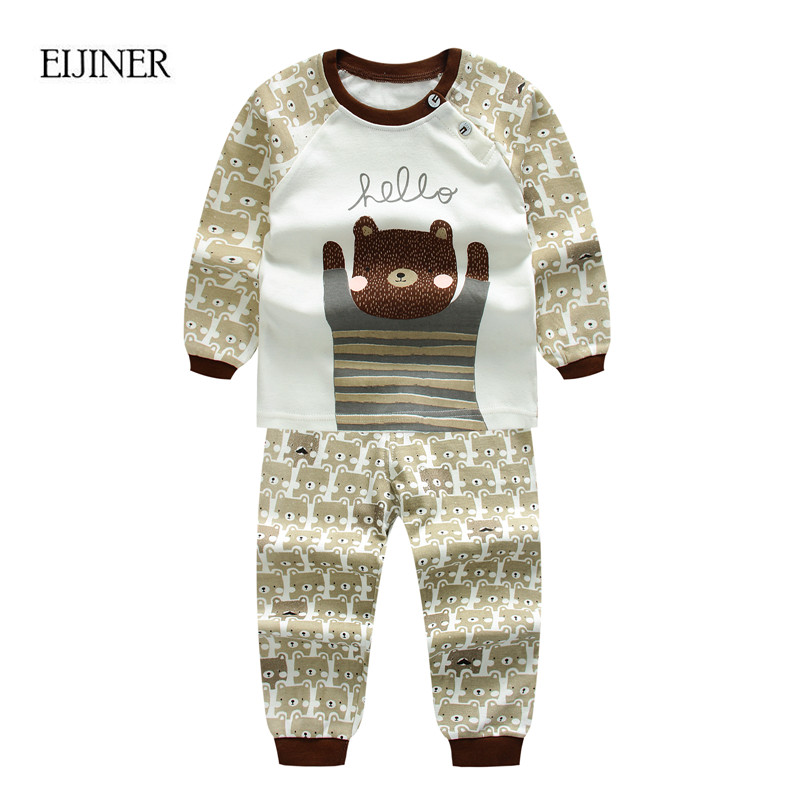 Animals Baby Boy Clothes Autumn 2017 New Kids Clothes for Boys Long Sleeve Baby Girls Clothing Set Cotton Children Clothes Set