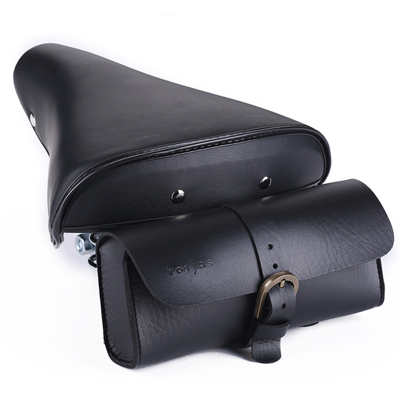 <font><b>Bike</b></font> Bags PU Vintage Tail Bag Bicycle Saddle Back Seat Tail Pouch Bags Cycling <font><b>Equipment</b></font> Bicycle Accessories Bisiklet Aksesuar image