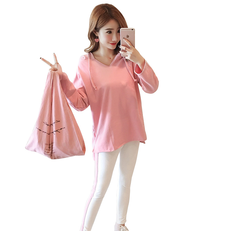 Afei Tony High Quality maternity clothes Long Sleeve Loose Casual 2018 Autumn Sexy Fashion 2 piece set pregnancy clothes 7