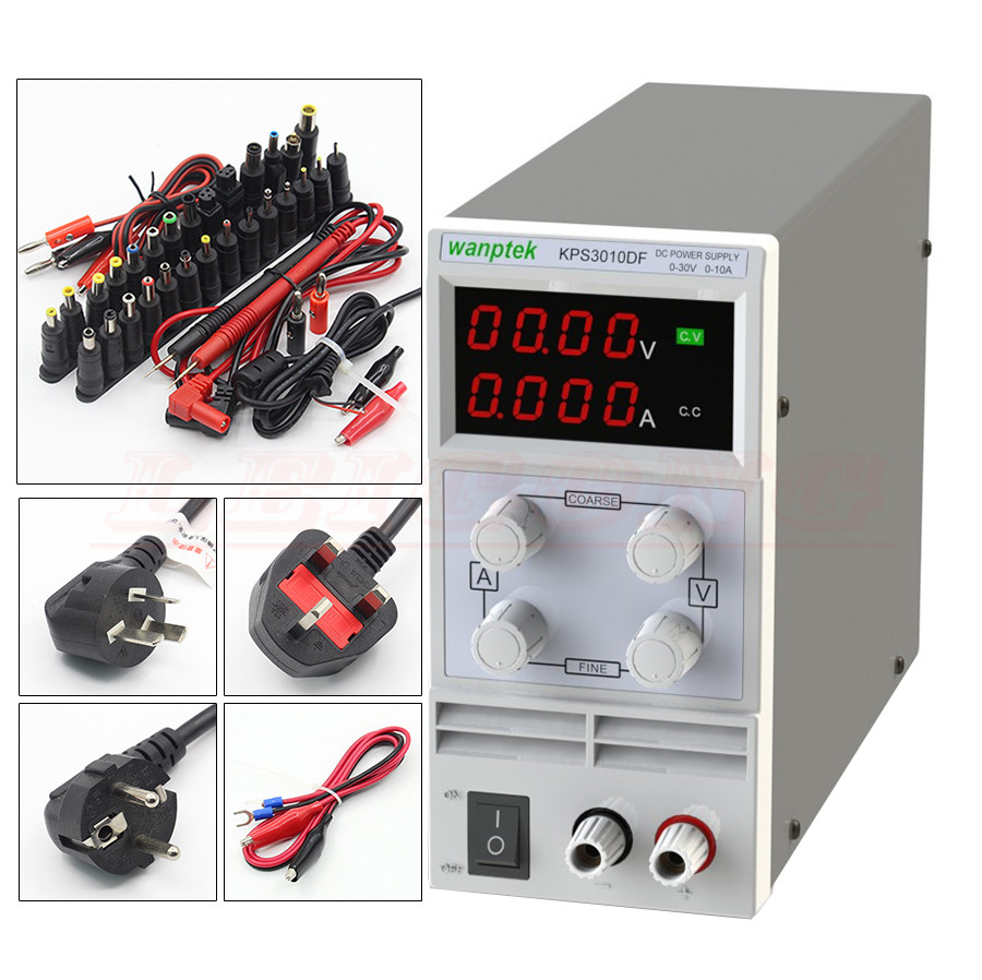 KPS3010DF LED display switch DC Power Supply protection function 30V 10A 0 1V 0 001A 110V