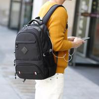 Outdoor Multifunctional USB Charged Shoulder Bag Male Computer Bag Leisure Backpack for Male Backpack with Letters Men Bag