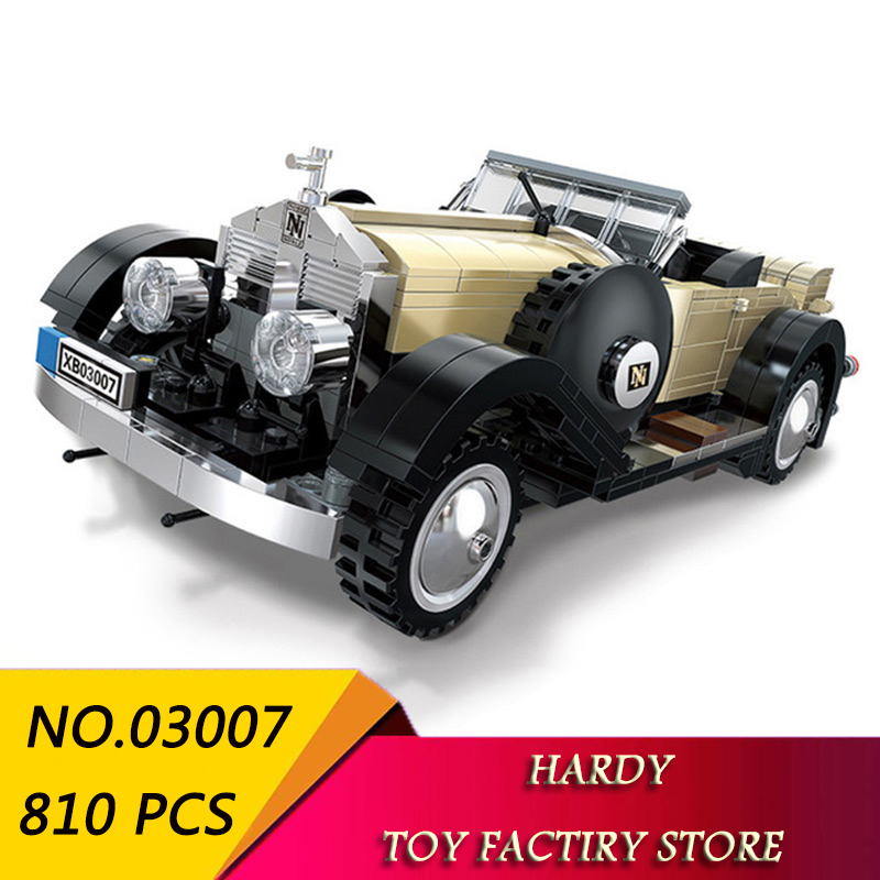 Xingbao 03007 Technology Series Noble Classic Car Children Assemble Small Particle Toys Building BlocksXingbao 03007 Technology Series Noble Classic Car Children Assemble Small Particle Toys Building Blocks