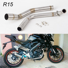Motorcycle Stainess Steel Exhaust Muffler  R15 Middle Link Pipe Modified For Yamaha YZF MT-15 2008-2017 front pipe