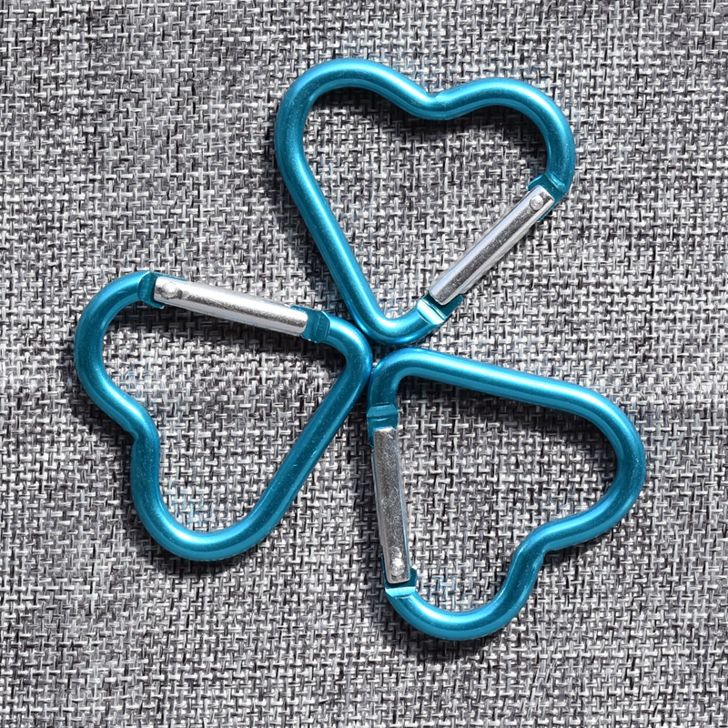Latest Aluminum Alloy Heart shaped Camping Carabiner Spring Snap ...