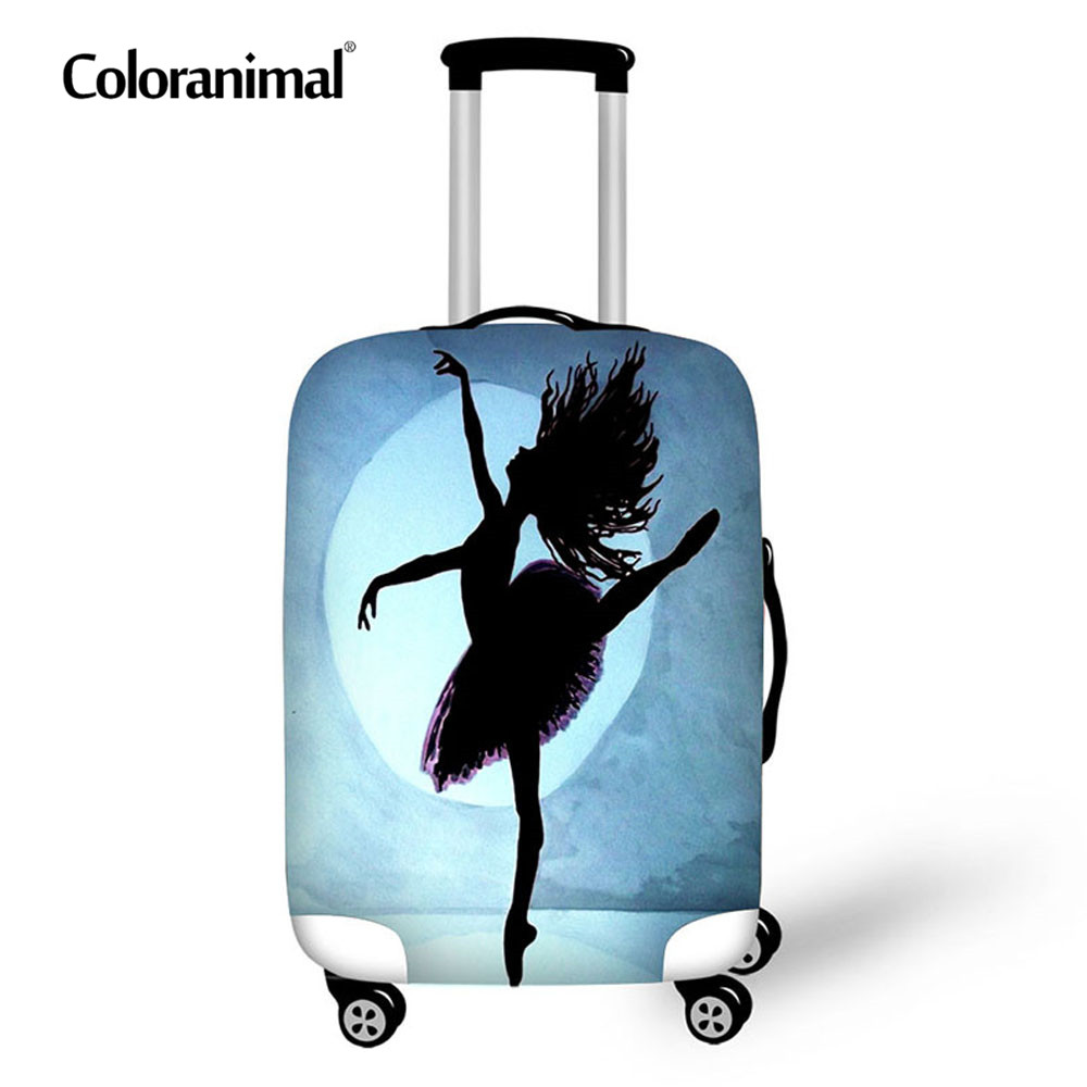 Coloranimal Ballet Suitcase Luggage Protective Cover Trunk Case Suitcase Bag Zipper For 18-30 Thick Waterproof Trolley Bag Cover