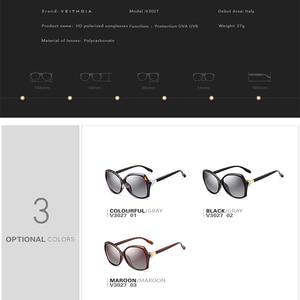 Image 5 - VEITHDIA Retro bayan güneş gözlüğü polarize lüks kristal bayanlar marka tasarımcısı güneş gözlüğü gözlük kadınlar için kadın V3027
