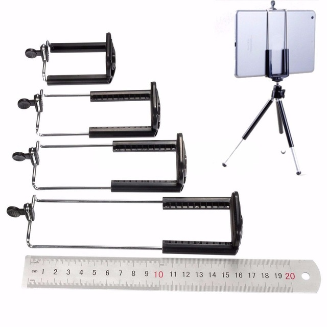 4 Size New Cell Phone Tablet Camera Stand Clip Tripod Holder Bracket Holder Black Hole Selfie Stick Phone Clip Accessories