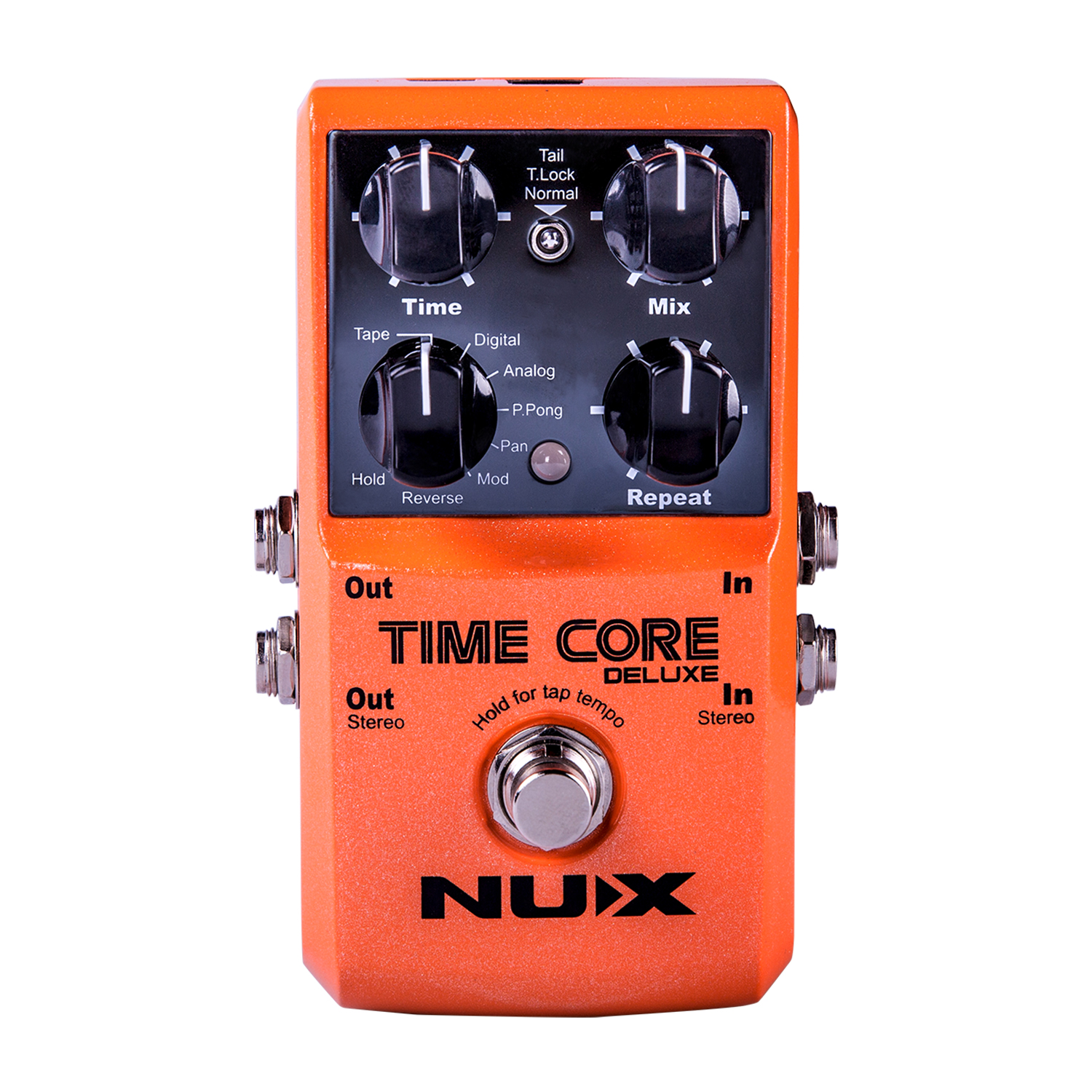 NUX Time Core Deluxe Delay Guitar Effect Pedal Incredible Ambient Crystal Clear True Bypass Tone Lock TSAC Technology nux time core deluxe delay pedal different types of delays to the upmost ambience