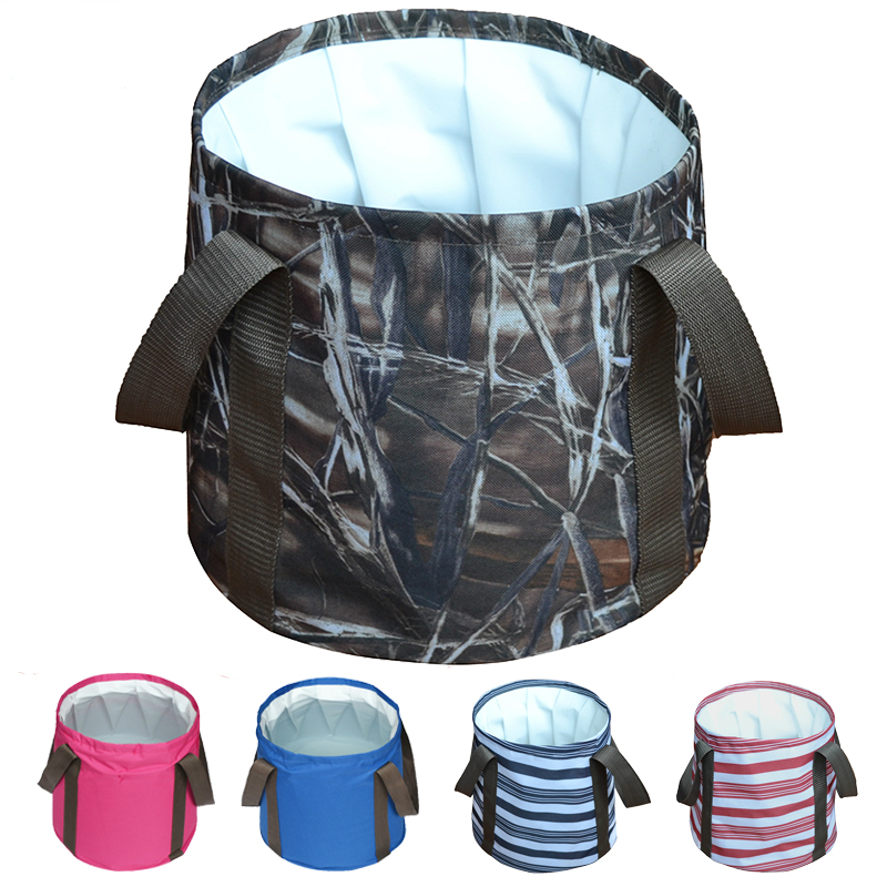 Fast shipping outdoor portable folding water bucket collapsible water bag for fishing camping hiking BBQ Foldable wash basin