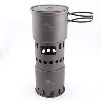 TOAKS Titanium Pot and STV 11 Wood Stove Combo Set