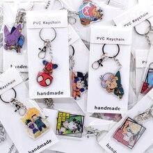 50 teile/los Nette Anime Schlüssel kette Acryl Keychain Hochwertige Chibi Cartoon Anhänger Schlüssel Zubehör
