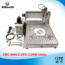 2200w mini cnc machine 6040 3 axis metal stone milling machine