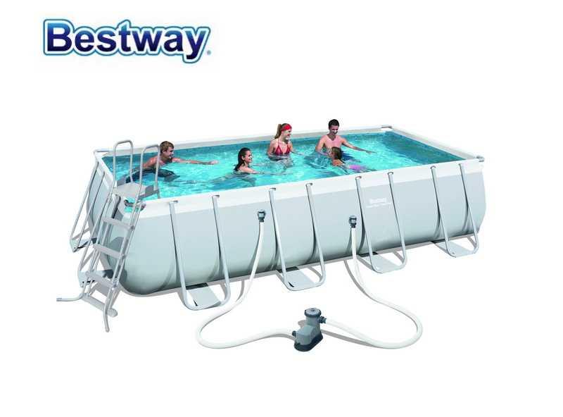 56465 Bestway 549x274x122cm Rectangular Pool Set 18\'x9\'x48\