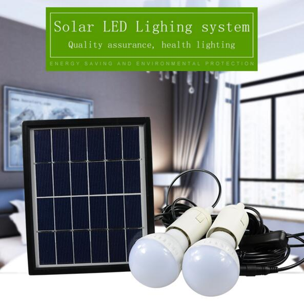 ФОТО Vioslite New Portable Solar Home Lighting System Led Bulb with Pv Panels with high capacity 4000mh Solar System free shipping