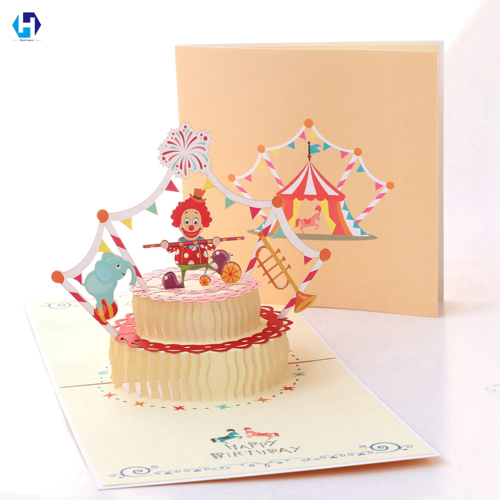 Heart Moon Birthday Greeting Gifts Cards Pop Up Laser Cut