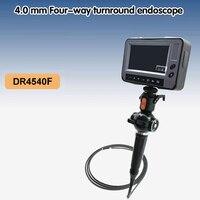 4 направленный OD 4,0 мм инспекции камера бороскоп эндоскопа 4,3 ''ЖК промышленности видео эндоскоп длина М 1,5 м USB SD карты DR4540F