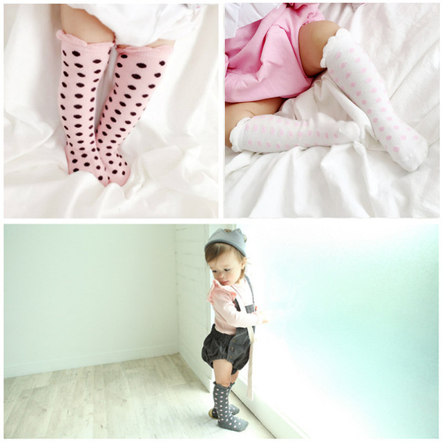 2018 Kids Girls Socks Knee High Infant Baby Girls Princess Socks