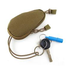 Mini Tactical Military Small Bag Money Bag Key Pouch Purse Bag Nylon with Drawstring Closure New(China)