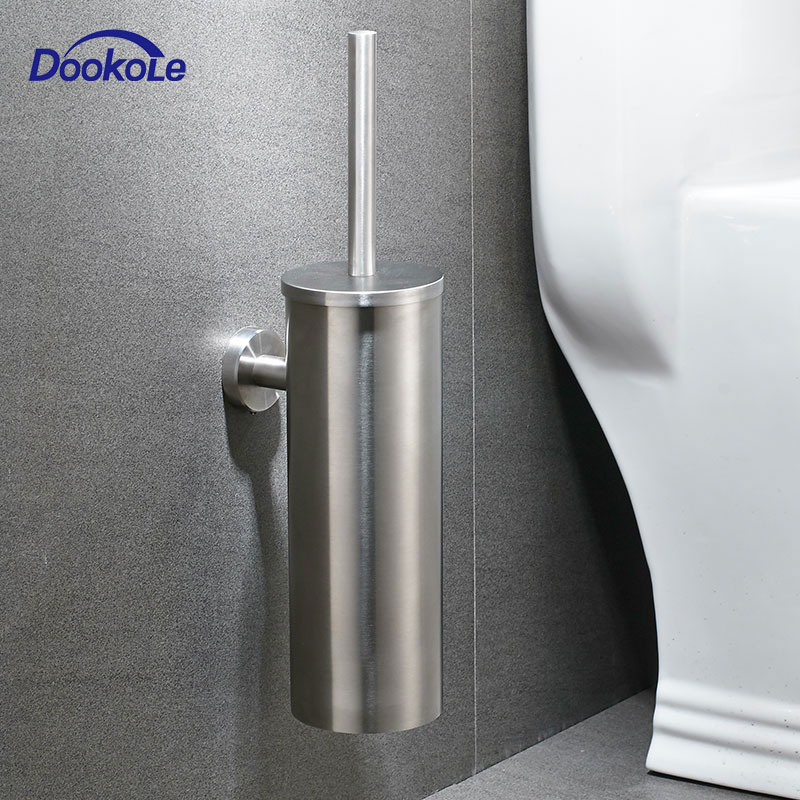 Toilet Brush SUS304 Stainless Steel Wall Mount For Bathroom Storage Modern Style Brushed Finished