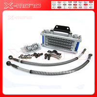 Universal Motorcycle Oil Cooler Radiator CNC Plate Cooling 50cc 70cc 90cc 110CC Engine Dirt Bike Radiator