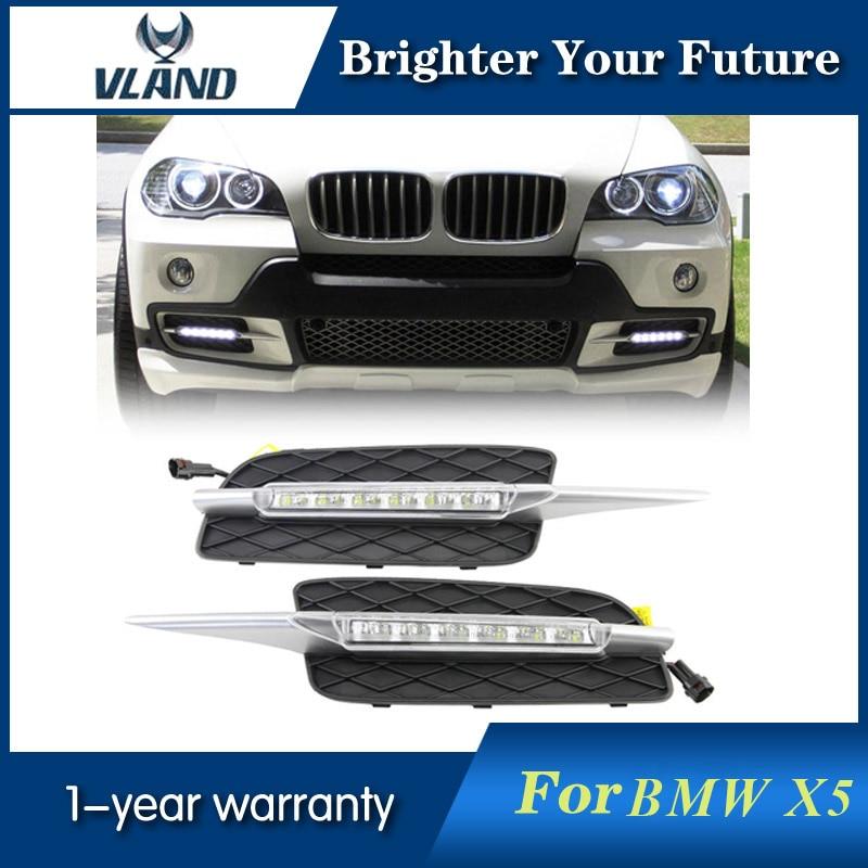 LED Daylight For BMW X5 E70 2007 2008 2009 2010 Waterproof LED Daytime Running Lights DRL Fog Lamp
