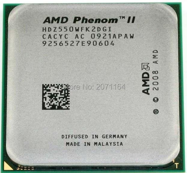 Free shipping for AMD Phenom II X2 550 dual-core 3.1G AM3 L3 = 6M desktop computer CPU