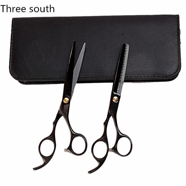 2 en 1 mano derecha Tijeras para corte de cabello con una funda Tijeras  para pelo 19bce0d80c49