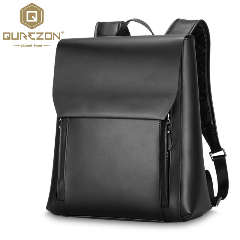 Fashion Men Backpack Mens Genuine Leather Bag Men Travel Backpack School Bag Famous Brands High Quality Male Casual Bags 2016 цена