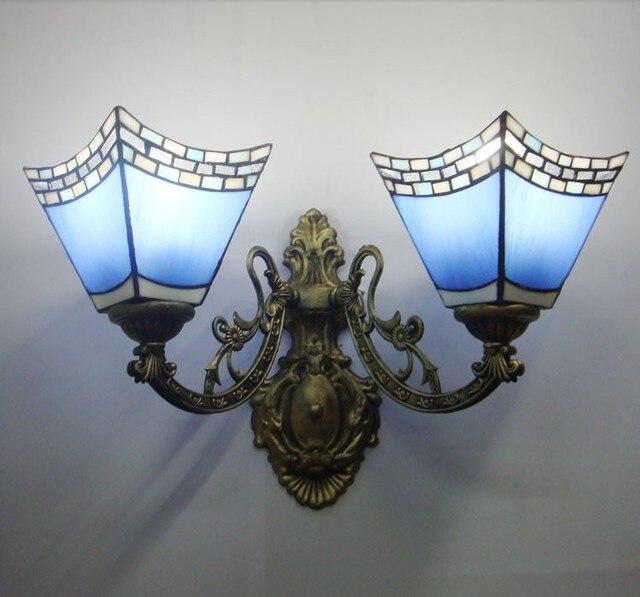 Luce parete di vetro blu luci minimalista salotto Lampade Da Parete ...