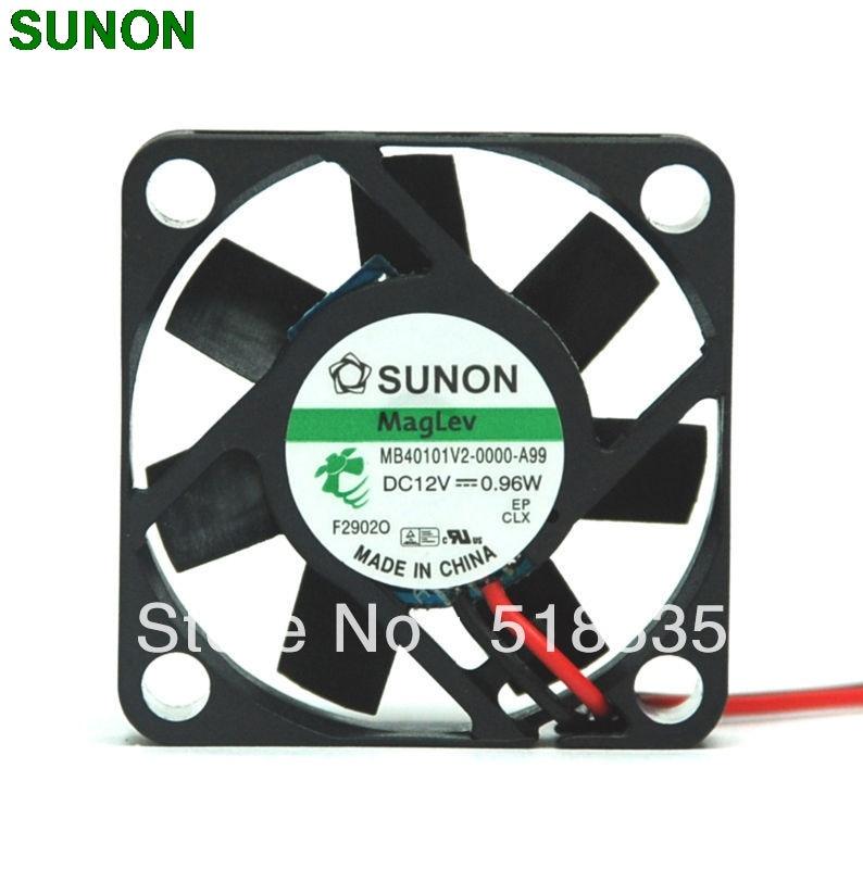 For SUNON MB40101V2-000U-G99 40*40*10mm 12V 0.96W Cooling Fan 3pin